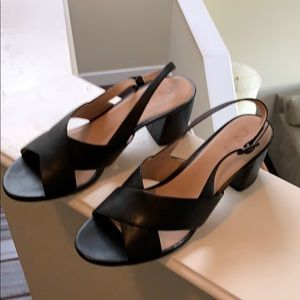 Never worn leather sandals